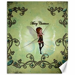 Cute Elf Playing For Christmas Canvas 8  x 10
