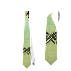 Cute Elf Playing For Christmas Neckties (Two Side)