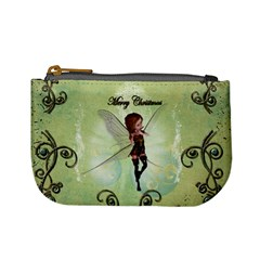 Cute Elf Playing For Christmas Mini Coin Purses