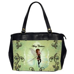Cute Elf Playing For Christmas Office Handbags (2 Sides)