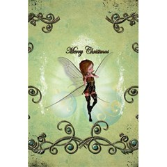 Cute Elf Playing For Christmas 5.5  x 8.5  Notebooks