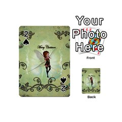 Cute Elf Playing For Christmas Playing Cards 54 (Mini)