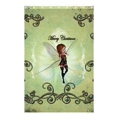 Cute Elf Playing For Christmas Shower Curtain 48  X 72  (small)