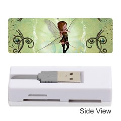 Cute Elf Playing For Christmas Memory Card Reader (stick)