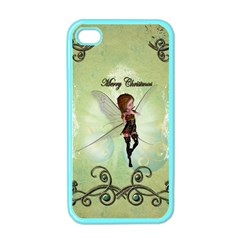 Cute Elf Playing For Christmas Apple iPhone 4 Case (Color)