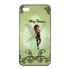 Cute Elf Playing For Christmas Apple Iphone 4/4s Seamless Case (black)