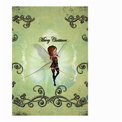 Cute Elf Playing For Christmas Small Garden Flag (Two Sides)