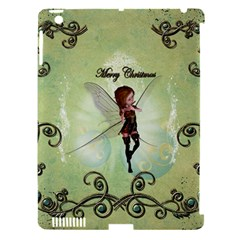 Cute Elf Playing For Christmas Apple iPad 3/4 Hardshell Case (Compatible with Smart Cover)