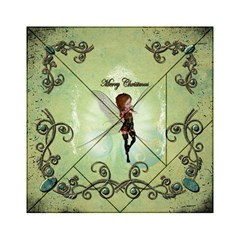 Cute Elf Playing For Christmas Acrylic Tangram Puzzle (6  x 6 )