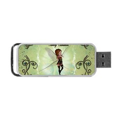 Cute Elf Playing For Christmas Portable Usb Flash (two Sides)