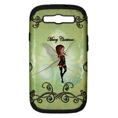 Cute Elf Playing For Christmas Samsung Galaxy S III Hardshell Case (PC+Silicone)