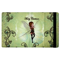 Cute Elf Playing For Christmas Apple iPad 2 Flip Case