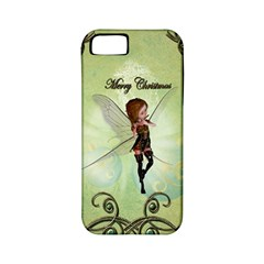 Cute Elf Playing For Christmas Apple iPhone 5 Classic Hardshell Case (PC+Silicone)