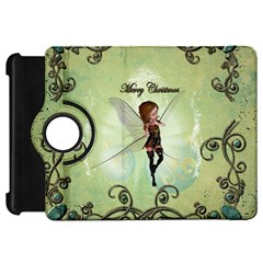 Cute Elf Playing For Christmas Kindle Fire HD Flip 360 Case