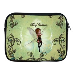 Cute Elf Playing For Christmas Apple iPad 2/3/4 Zipper Cases