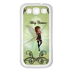 Cute Elf Playing For Christmas Samsung Galaxy S3 Back Case (White)