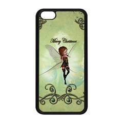 Cute Elf Playing For Christmas Apple iPhone 5C Seamless Case (Black)