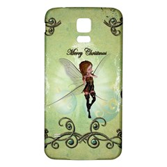 Cute Elf Playing For Christmas Samsung Galaxy S5 Back Case (White)