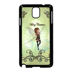 Cute Elf Playing For Christmas Samsung Galaxy Note 3 Neo Hardshell Case (Black)
