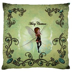 Cute Elf Playing For Christmas Standard Flano Cushion Cases (One Side)