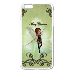 Cute Elf Playing For Christmas Apple iPhone 6 Plus/6S Plus Enamel White Case