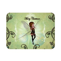 Cute Elf Playing For Christmas Double Sided Flano Blanket (mini)