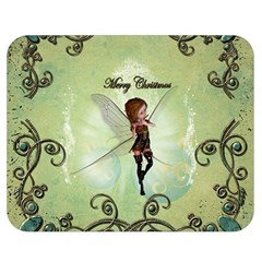 Cute Elf Playing For Christmas Double Sided Flano Blanket (medium)