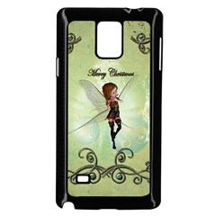 Cute Elf Playing For Christmas Samsung Galaxy Note 4 Case (black)
