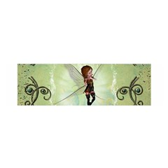 Cute Elf Playing For Christmas Satin Scarf (oblong)