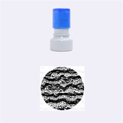 Alien Skin Blue Rubber Round Stamps (Small)