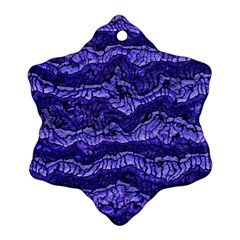 Alien Skin Blue Snowflake Ornament (2-Side)