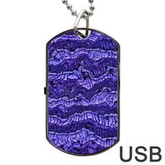 Alien Skin Blue Dog Tag USB Flash (One Side)