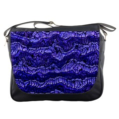 Alien Skin Blue Messenger Bags