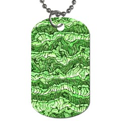 Alien Skin Green Dog Tag (Two Sides)