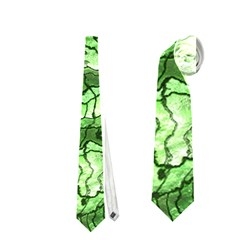 Alien Skin Green Neckties (two Side)
