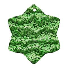 Alien Skin Green Snowflake Ornament (2-Side)