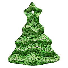 Alien Skin Green Christmas Tree Ornament (2 Sides)