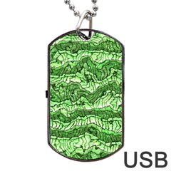 Alien Skin Green Dog Tag USB Flash (Two Sides)