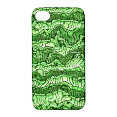 Alien Skin Green Apple iPhone 4/4S Hardshell Case with Stand