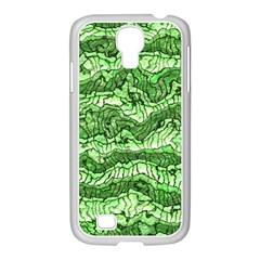 Alien Skin Green Samsung GALAXY S4 I9500/ I9505 Case (White)