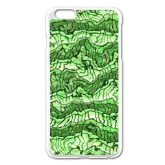 Alien Skin Green Apple Iphone 6 Plus/6s Plus Enamel White Case