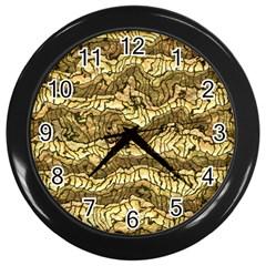 Alien Skin Hot Golden Wall Clocks (Black)