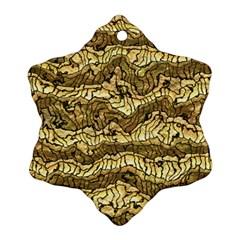 Alien Skin Hot Golden Snowflake Ornament (2-Side)