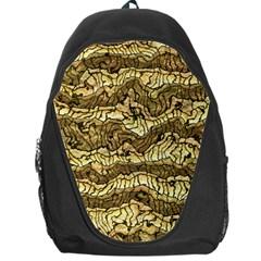 Alien Skin Hot Golden Backpack Bag