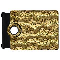Alien Skin Hot Golden Kindle Fire HD Flip 360 Case