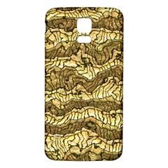 Alien Skin Hot Golden Samsung Galaxy S5 Back Case (White)