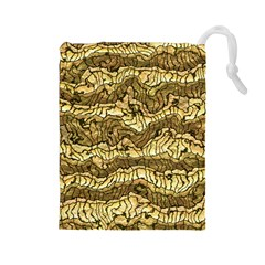 Alien Skin Hot Golden Drawstring Pouches (Large)
