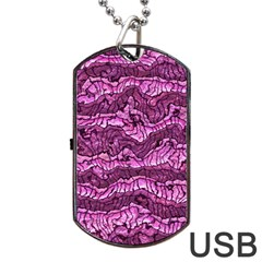 Alien Skin Hot Pink Dog Tag USB Flash (Two Sides)