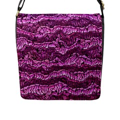 Alien Skin Hot Pink Flap Messenger Bag (L)