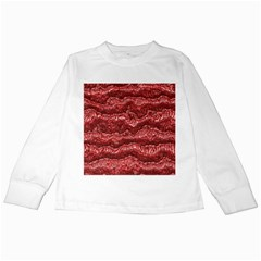 Alien Skin Red Kids Long Sleeve T-Shirts
